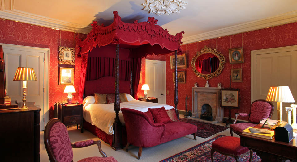 The bridal suite at Aldourie Castle Loch Ness Scotland