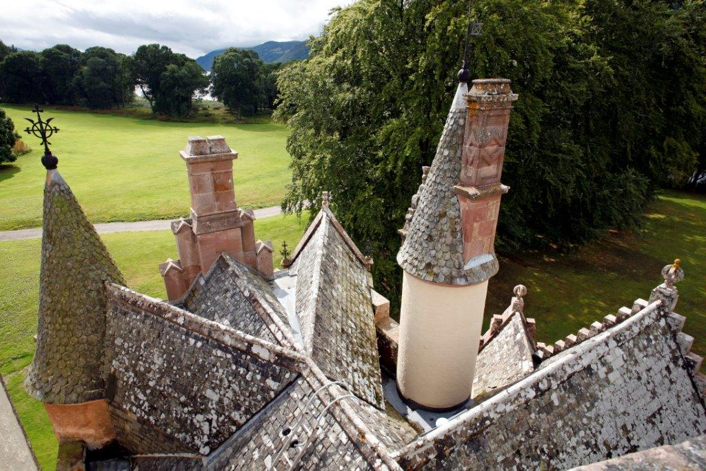 45. Aldourie Castle - Four in Hand Roof Exclusive Scottish Castle