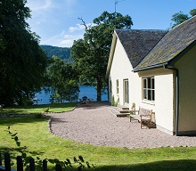 pier cottage and garden Aldourie Castle Estate Loch Ness
