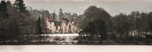 castle on loch ness in snow Aldourie Castle Estate Scotland Exclusive Use