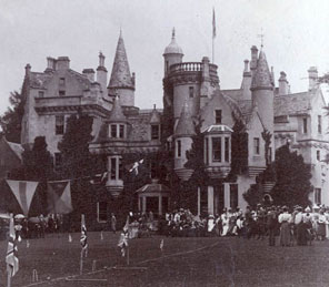 historic photograph Aldourie Castle Loch Ness garden party exclusive use Scottish castle