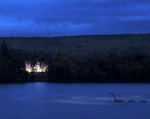 nessie on loch ness aldourie castle