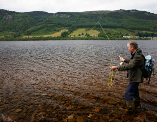 Fishing on Loch Ness