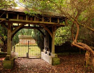 Family graveyard gates