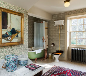 luxury bathroom exclusive use Aldourie Castle Estate loch ness