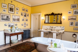 yellow bathroom