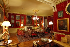 red drawing room aldourie castle scotland