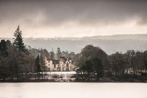 aldourie castle loch ness snow