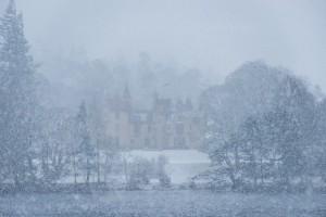 aldourie castle loch ness in snow