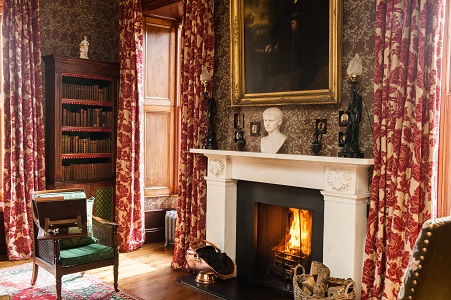 Aldourie Castle Loch Ness The Library - exclusive use property