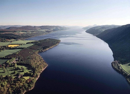 Airview of Loch Ness and Aldourie Estate