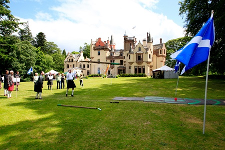 highland games aldourie estate Castle Family Stays