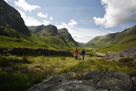 walking scottish highlands