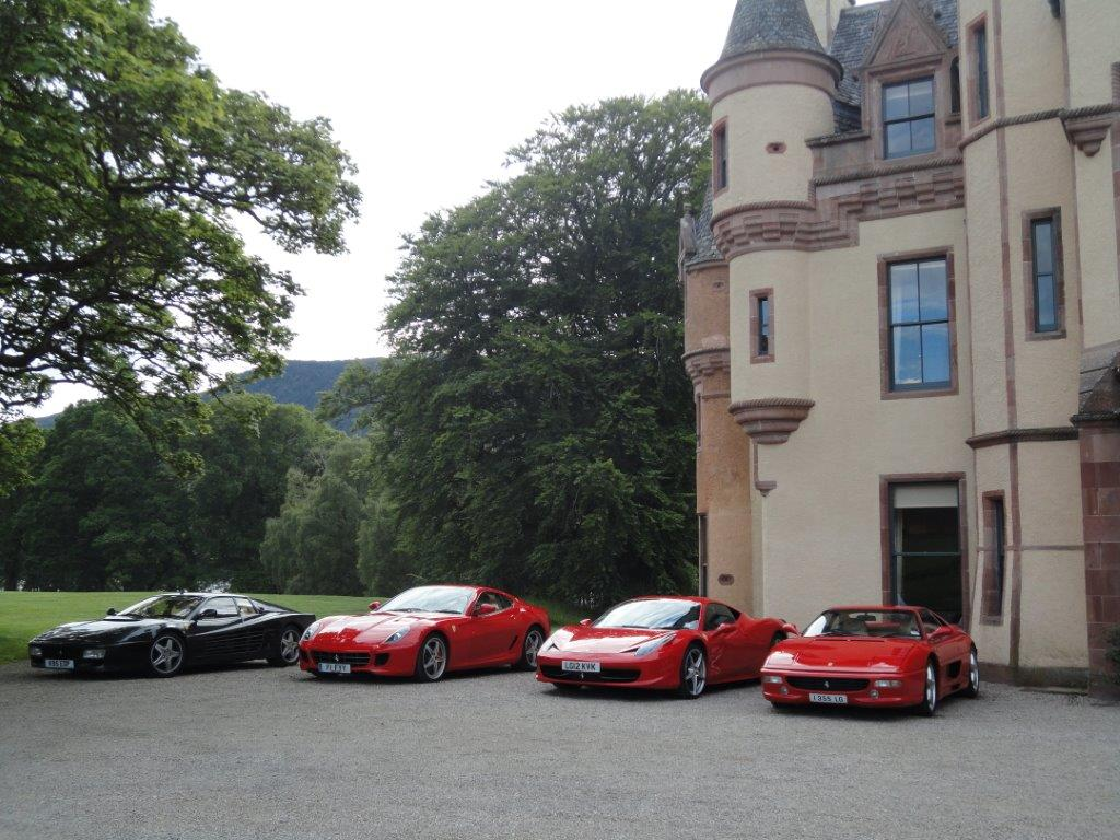 car launch Aldourie Castle private corporate venue scotland Historic Aldourie Castle