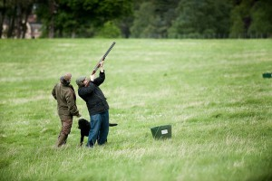 clay pigeon shooting aldourie estate scotland