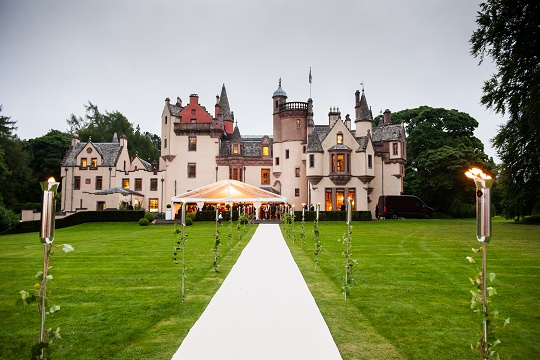marquee wedding Aldourie Castle Estate - Historic Aldourie Castle