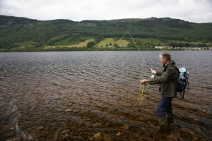 Fishing in the loch