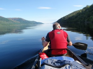canoeing on the loch. Things to do at Loch Ness.