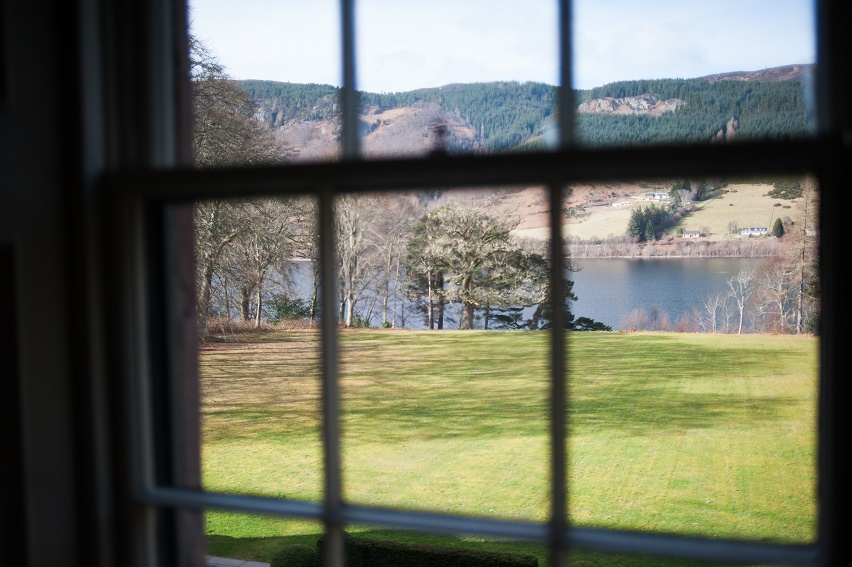view loch ness aldourie castle window
