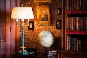 library books Aldourie Castle Scotland