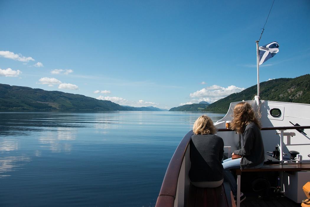 Boating on Loch Ness