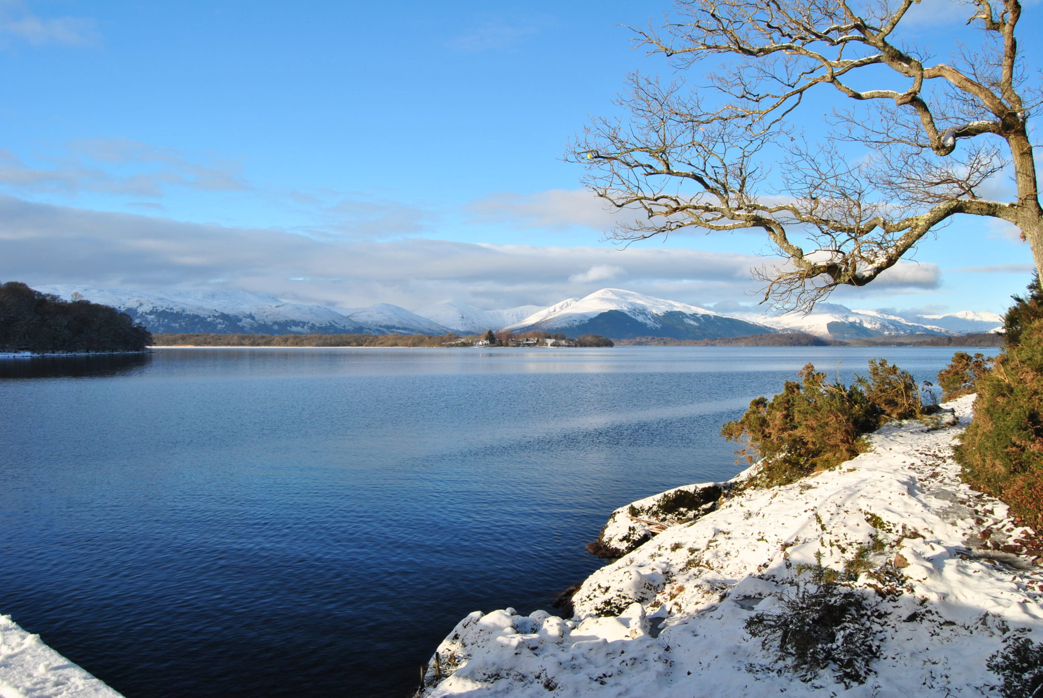 Loch Lomond in Winter Scottish Highlands
