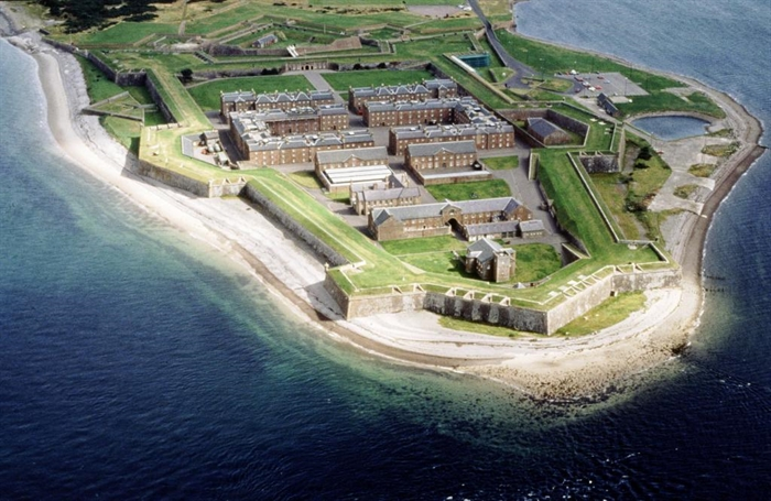 Fort George from above family attractions in Inverness