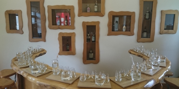 whisky tasting set up at Macallan Distillery best cottage holiday tours near Inverness