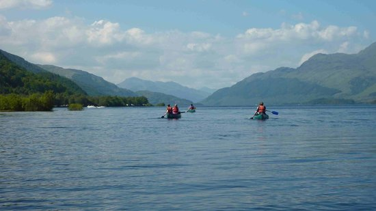 Kayak on loch lomond - couples holiday loch ness