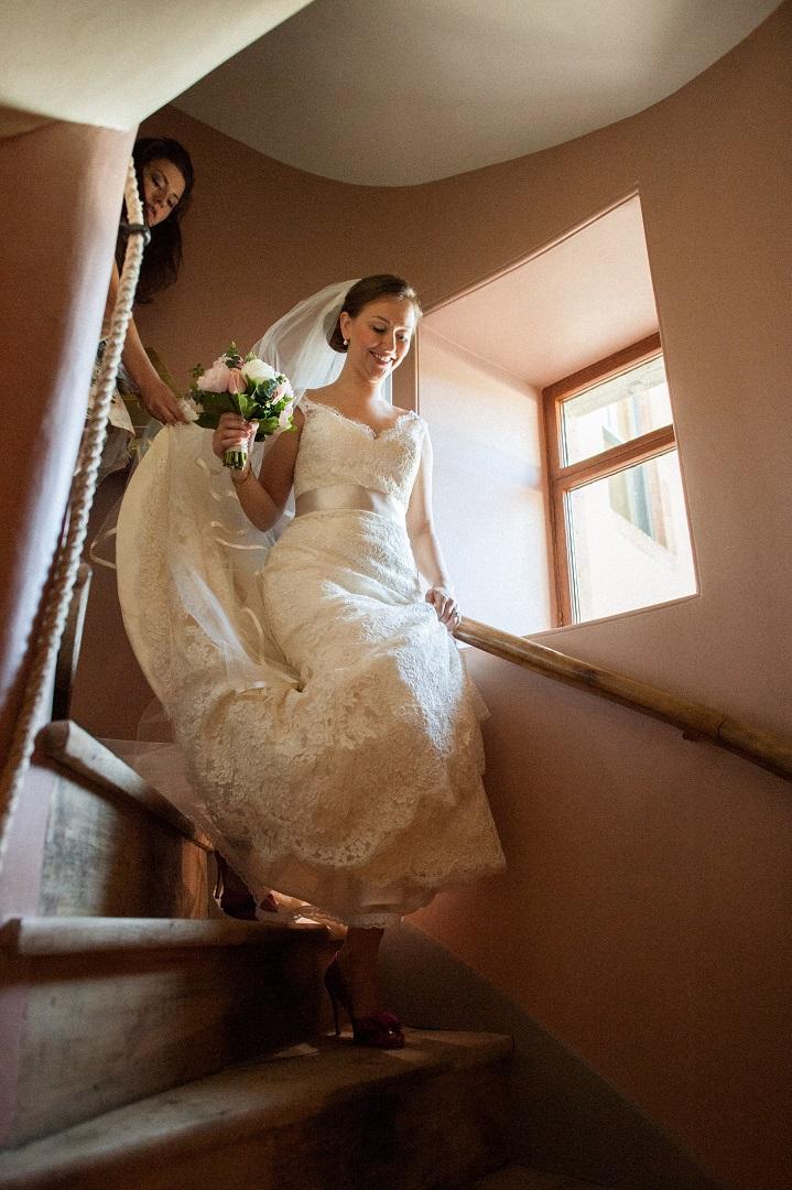 Aldourie Castle Loch Ness bride internal spiral staircase stay in a castle