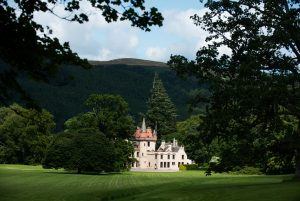 outdoors on a Scottish Castle estate
