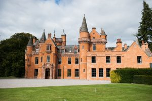 Exclusive Use Castle Scotland Front Lawn