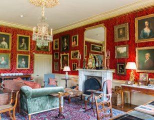 Aldourie Castle Red Drawing Room