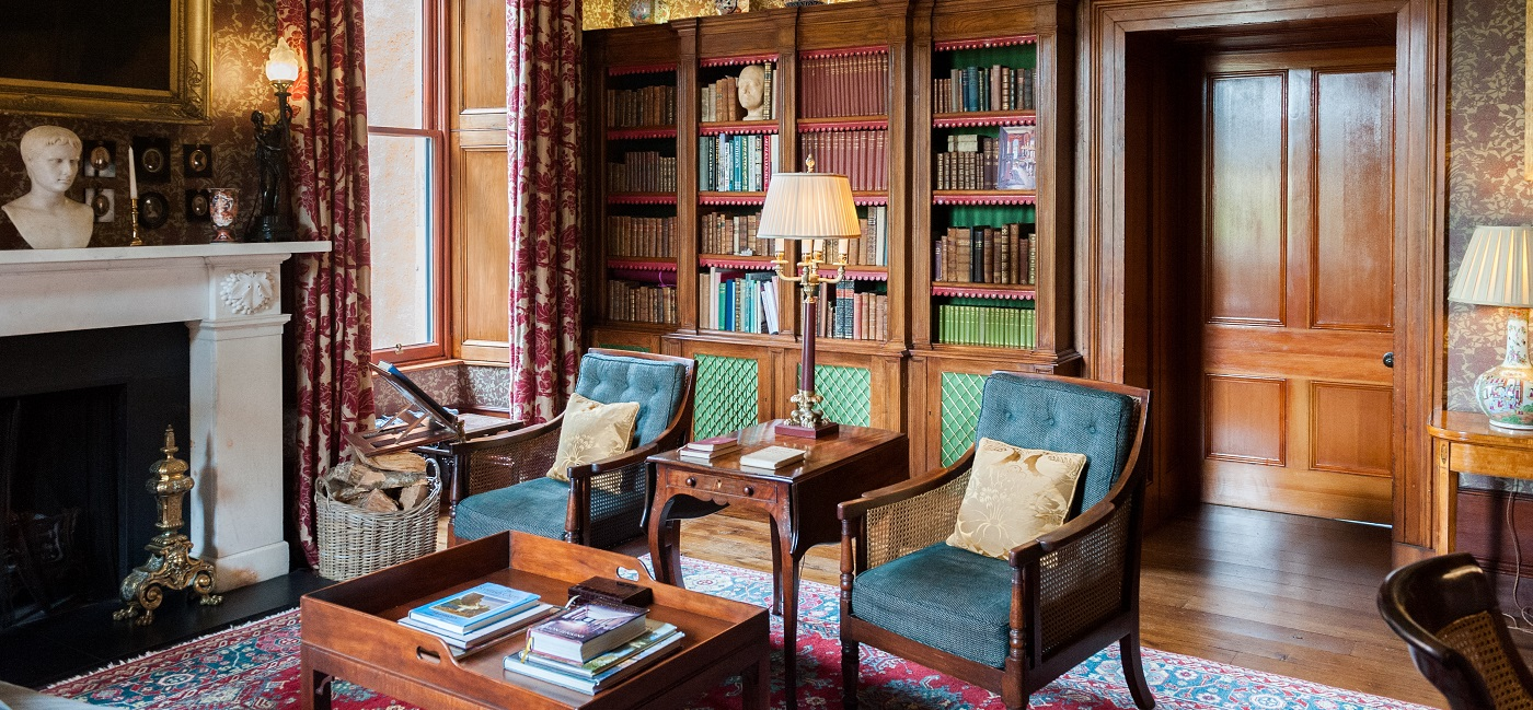 Aldourie-Castle-library-home