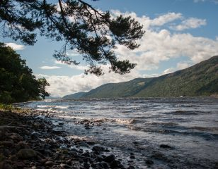 View from Aldourie Estate onto Loch Ness