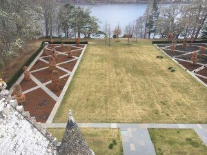 Aldourie Castle garden Loch Ness