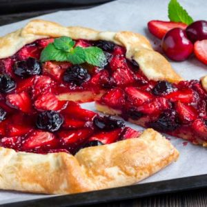 Strawberry And Sour Cherry Galette Aldourie Castle Food
